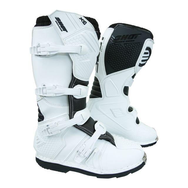 Bottes Moto Cross Shot X10 2.0 White 41
