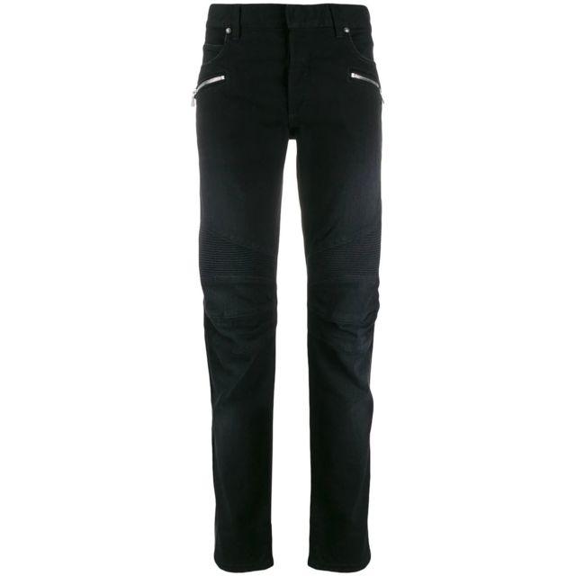 BALMAIN Homme Sh05392Z7410PA Noir Coton Jeans