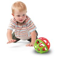 Bloomy - Petite balle grelos : Rouge et vert