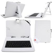 Duragadget - Etui blanc + clavier Azerty français pour tablette 10.1 pouces
