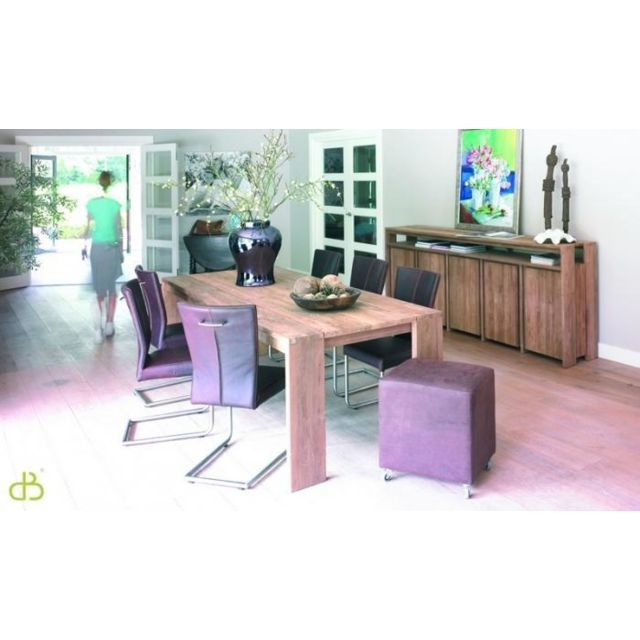 Dbodhi Table teck rectangulaire gamme fissure 180
