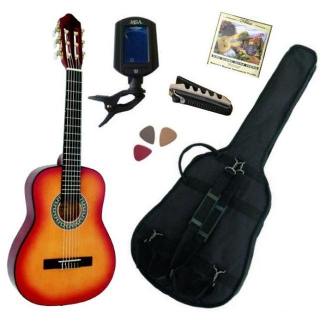 msa pack guitare classique 1 4 pour enfant 4 7ans avec 5 accessoires sunburst pas cher. Black Bedroom Furniture Sets. Home Design Ideas