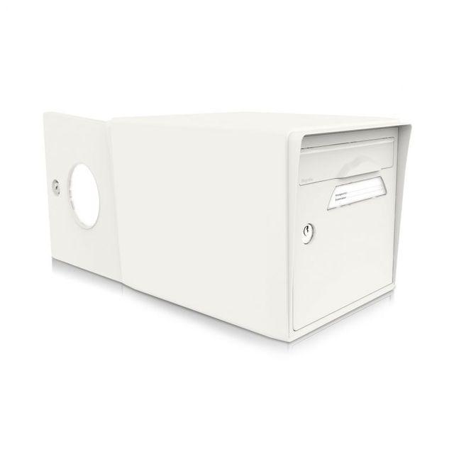 signee bo te aux lettres 2 portes blanc uni blanc sign e pas cher achat vente bo te aux. Black Bedroom Furniture Sets. Home Design Ideas