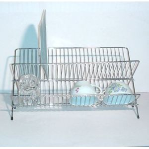 revimport egouttoir pliant en fil chrom de 48 cm argent pas cher achat vente egouttoir. Black Bedroom Furniture Sets. Home Design Ideas