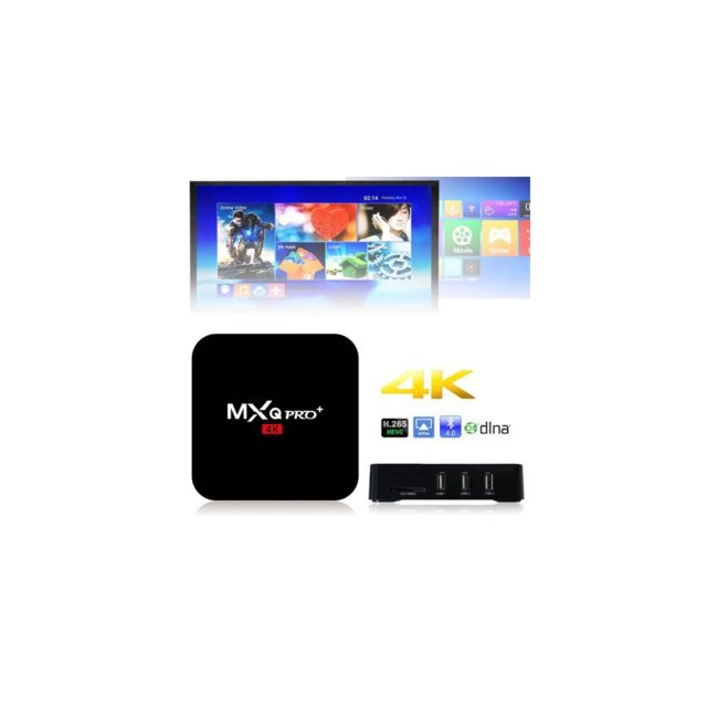Auto-hightech Tv Box Android 5.1 4K Quad Core avec WiFi, Hdmi, Kodi, Lecteur intelligent + 16 Go – Prise Ue