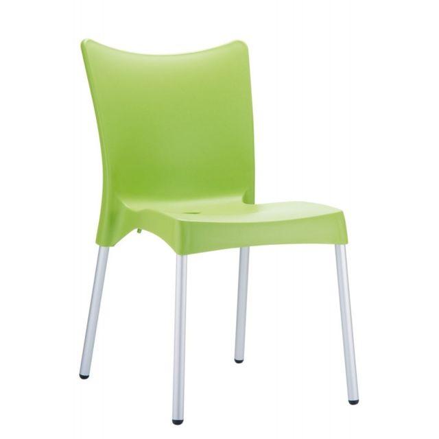 decoshop26 chaise de jardin ou cuisine en plastique vert mdj10164 pas cher achat vente. Black Bedroom Furniture Sets. Home Design Ideas