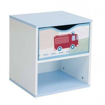 worlds apart table de chevet v hicules pour gar on bleu pas cher achat vente chevet. Black Bedroom Furniture Sets. Home Design Ideas