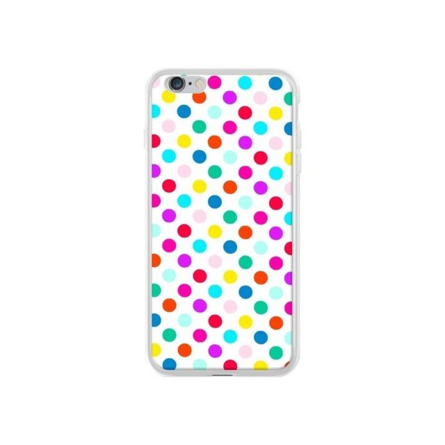 coque iphone 6 plus et 6s plus pois multicolores laetitia