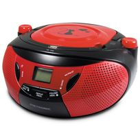 Metronic - Radio Cd-mp3 portable enfant Black Cat - Rouge