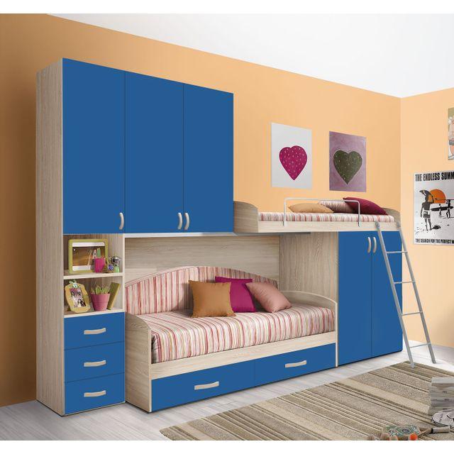 Mennza - Chambre enfant complète Hurra Bleu - pas cher Achat / Vente ...