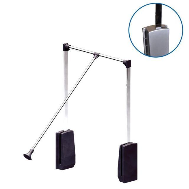 wimove el vateur de penderie acier bo tier argent largeur dressing 540 690 mm pas cher. Black Bedroom Furniture Sets. Home Design Ideas