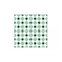 Wadiga   Stickers Pour Carrelage De Salle De Bain Ou Cuisine Vert La Folie  02