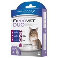 Francodex - Traitement Spot-On Fiprovet Duo pour Chat 4x0,5ml