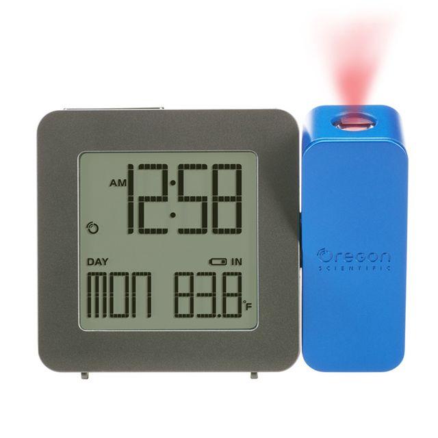 Bleu Réveil avec projection de l/'heure et température intérieure