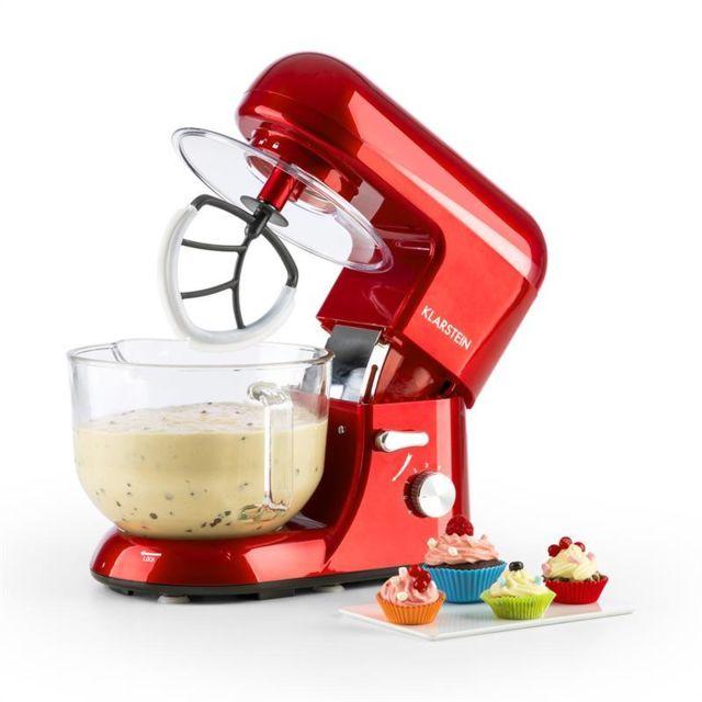 KLARSTEIN Bella Rossa 2G Robot de cuisine 1200W Bol en verre 2,5/5,2l - rouge