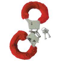 Totalcadeau - Menottes sexy érotiques coquin fourrure 2 clés rouge