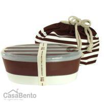 Casabento - Boîte à Bento Luncheer Marron + Sac