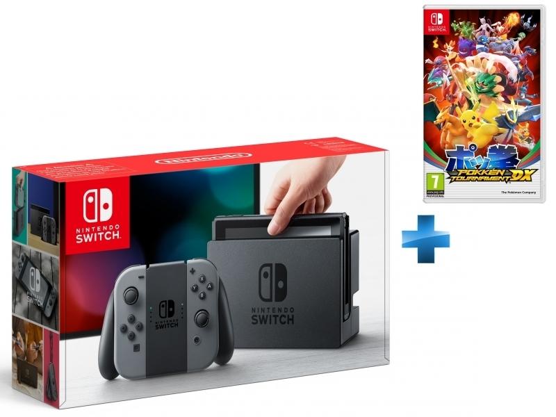 Console Switch avec une paire de Joy-Con Gris + Pokkén Tournament DX - Switch