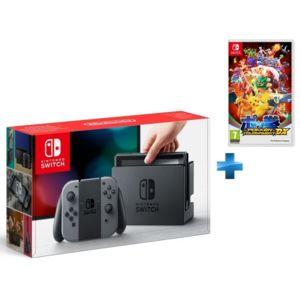 NINTENDO - Console Switch avec une paire de Joy-Con Gris + Pokkén Tournament DX - Switch