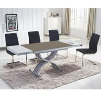Ego Design - Table basse relevable Reality verre taupe
