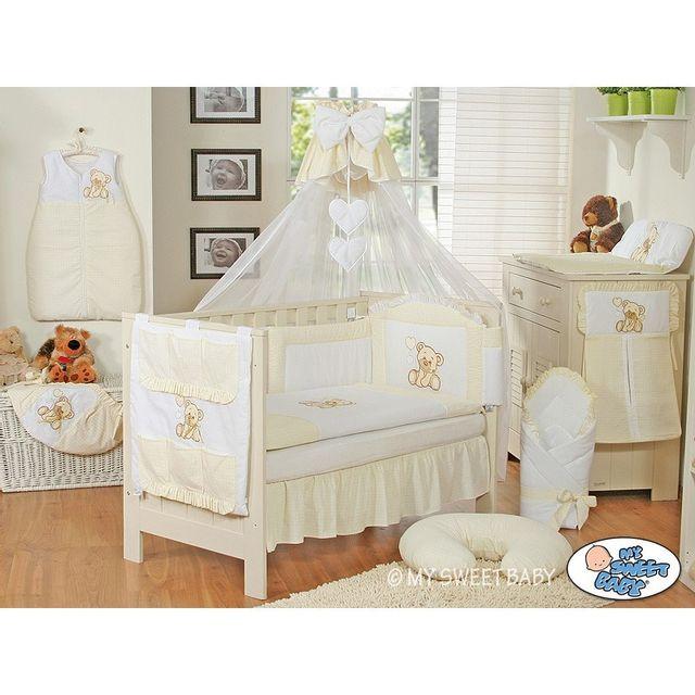 marque generique parure de lit b b compl te ours teddy blanc cass 120 60 pas cher achat. Black Bedroom Furniture Sets. Home Design Ideas