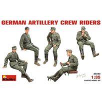 Mini Art - Figurines 2ème Guerre Mondiale : Artilleurs allemands en position assise ou de conduite