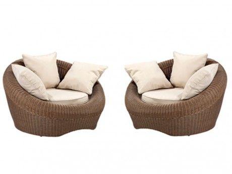 MARQUE GENERIQUE - Lot de 2 fauteuils de jardin WHITEHEAVEN en ...
