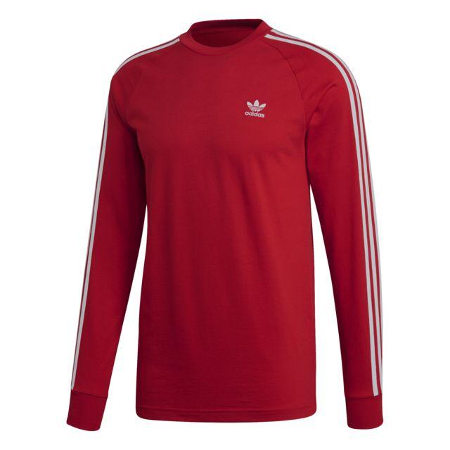 Adidas T shirt manches longues 3 Stripes pas cher Achat