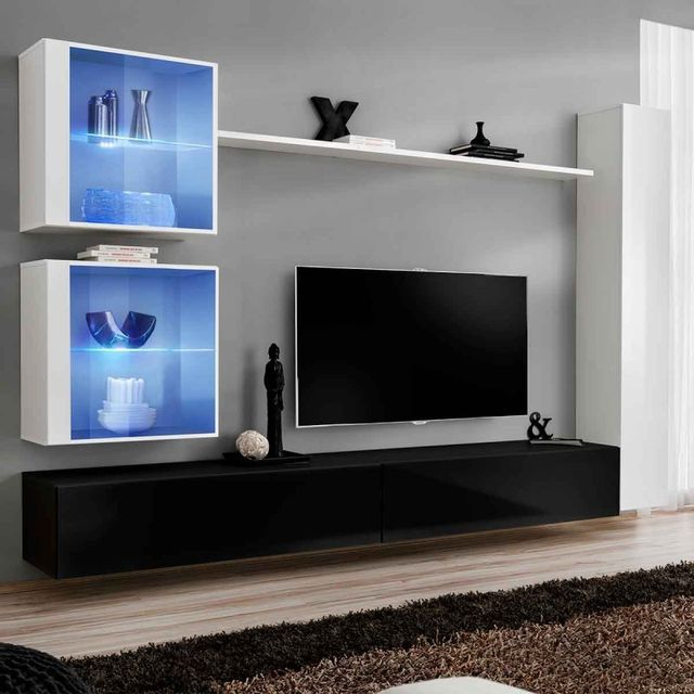 meuble tv mural design pas cher meuble tv mural design blanc solutions pour la d coration int. Black Bedroom Furniture Sets. Home Design Ideas