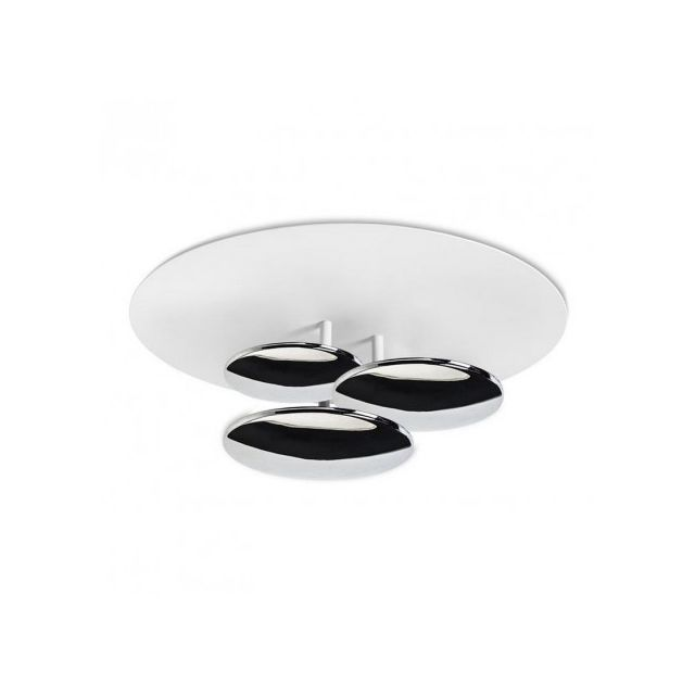Leds C4 Applique design ronde Strata Led D45 cm - Chrome
