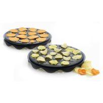 Mastrad - Cuit-chips par 2 ,plaques noires silicone 28 cm
