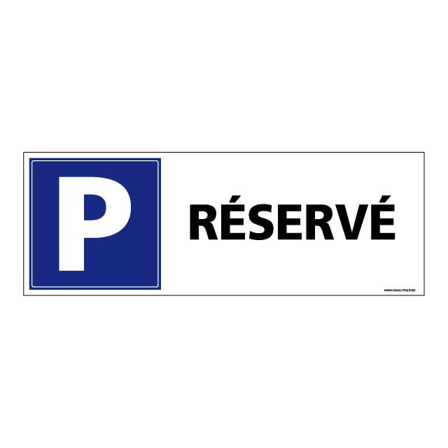 Stationnement Interdit Parking Plastique rigide PVC 1,5 mm Double Face au Dos Panneau Dimensions 210 x 75 mm Protection Anti-UV