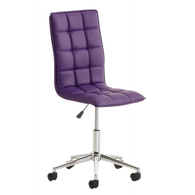 decoshop26 fauteuil chaise de bureau tabouret roulette en simili cuir violet bur10082 pas. Black Bedroom Furniture Sets. Home Design Ideas