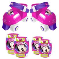 Stamp - Minnie Set Patins a Roulettes et Protections