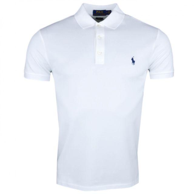 Ralph Lauren - Polo blanc piqué slim fit pour homme - pas cher Achat    Vente Polo homme - RueDuCommerce 4e4906454144