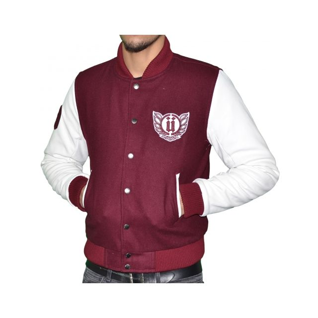 Veste teddy bordeaux