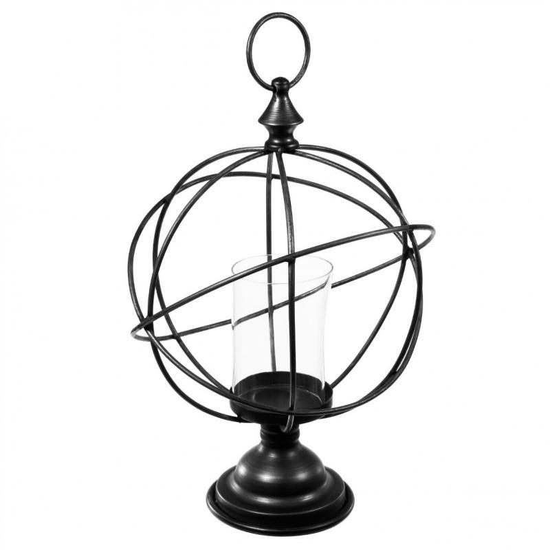 "Photophore en Métal ""Globe"" 41cm Bronze"