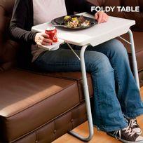 Totalcadeau - Table pliante ajustable - niveaux en hauteur et inclinable