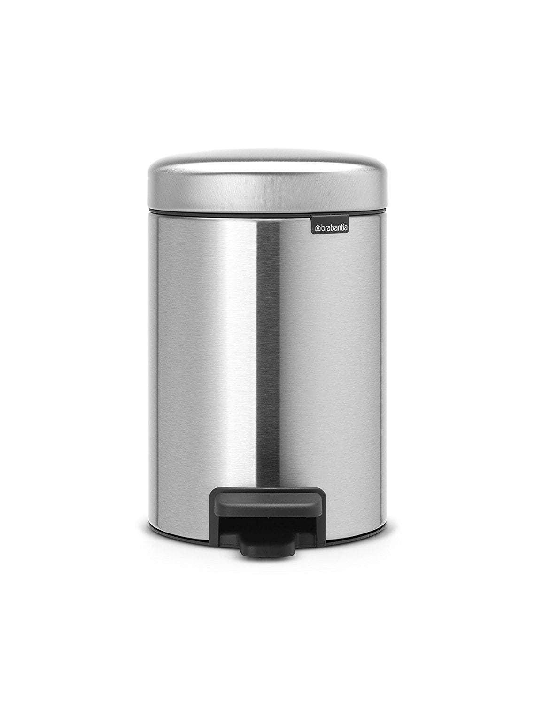 Brabantia poubelle p dale newicon 3l matt steel - Poubelle sans odeur ...