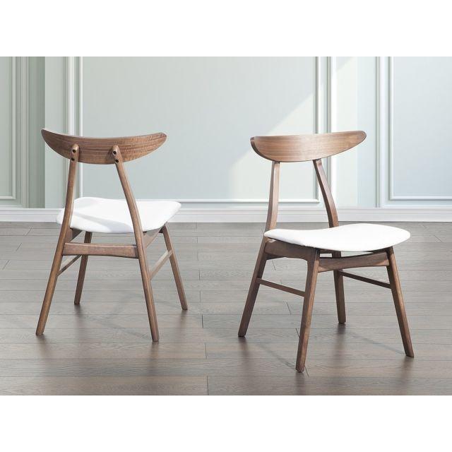 Beliani Chaise de salle à manger - chaise en simili-cuir - blanc - Lynn