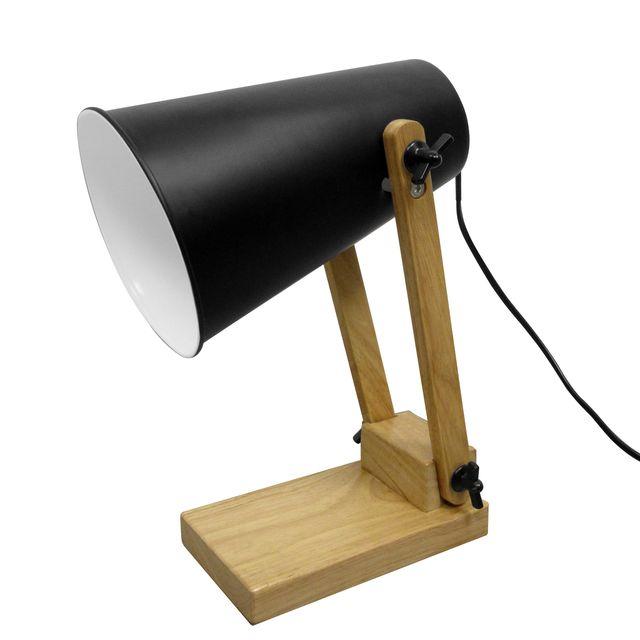 Rendez Vous Deco - Lampe de bureau Ino noire