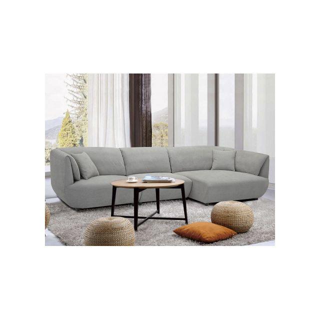 Canapé d'angle STANISLAS - Gris clair
