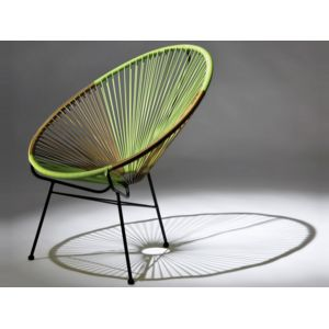HABITAT ET JARDIN - Lot de 2 fauteuils de jardin Ovaly - Vert/doré ...