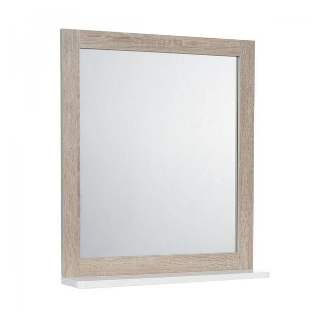 jja miroir salle de bain bois patine et blanc pas cher achat vente miroir de salle de bain