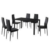 Soldes Table a manger en verre noir - 2e démarque Table a manger en ...