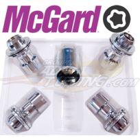 McGard - Lot de 4 Ecrous - 12x150 - L42 - H19 - Plat - Chrome - Antivol de Roues