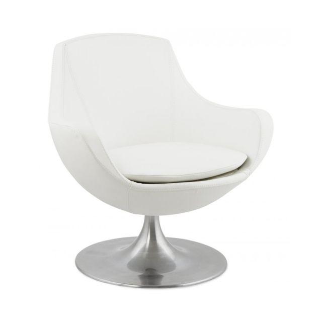 Kokoon Design Fauteuil design Raoul White 74x76x78 cm