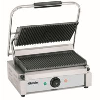 Bartscher - Grill contact Panini, plaque rainuree