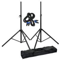 Pronomic - add on package stand de haut parleurs, 2 pieds set + cable + poche