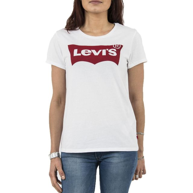 levi 39 s tee shirt levis 17369 the perfect tee blanc pas cher achat vente tee shirts tops. Black Bedroom Furniture Sets. Home Design Ideas